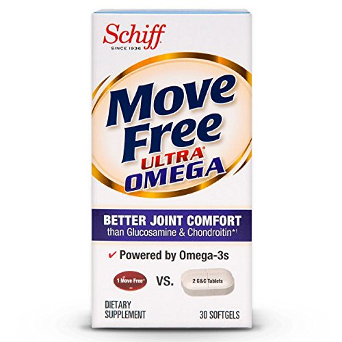Move Free Ultra Omega, 30 softgels - Joint Health Supplement with Omega-3 Krill Oil and Hyaluronic Acid (Pack of 7) by Schiff