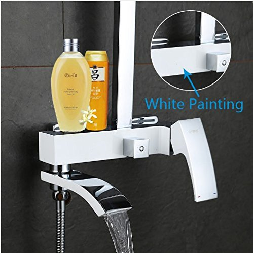 Gowe shower faucet set bronze bathtub faucet mixer tap waterfall wall shower head chrome Bathroom Shower set 2