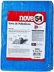 Lona De Polietileno Azul 6 M X 3 M Nove54 Nove 54