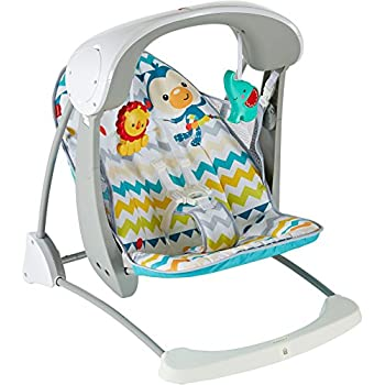 Image of Baby Fisher-Price Colourful Carnival Take-along Swing & Seat [Amazon Exclusive]