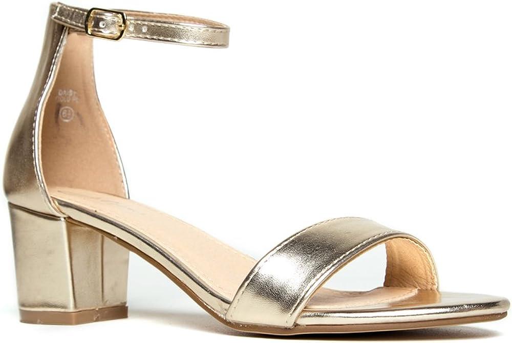 J Daisy Adams Ankle Strap Kitten Heel Adorable Low Block Heel
