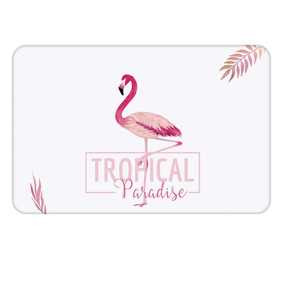 ETH Natural Diatomaceous Earth Bath Mat Flamingo Pattern Water Absorption and Quick-Drying Does Not Fade Furniture Versatile Brushed Surface Mat (Size : 6039)