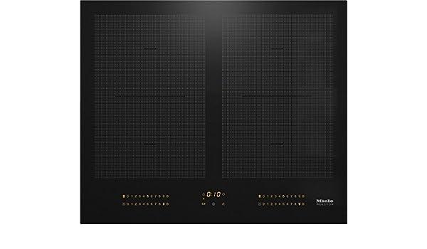 Miele - Encimera Cocina a inducción KM 6329 acabado negro de ...