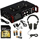 TASCAM DR-701D -Channel Digital Multitrack Recorder, TASCAM Closed-Back Stylish Headphone, Tascam PS-P520E AC Power Adapter, Lexar Professional 600x 16GB SDHC UHS-I Memory Card and Duracell AA Battery