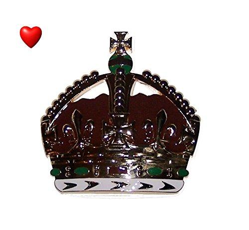 Royal King Crown Emblem Desk Paperweight Birthday Valentine Anniversary Gift XO