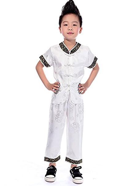 Amazon.com: AvaCostume Chino Dragón bordado traje para niños ...