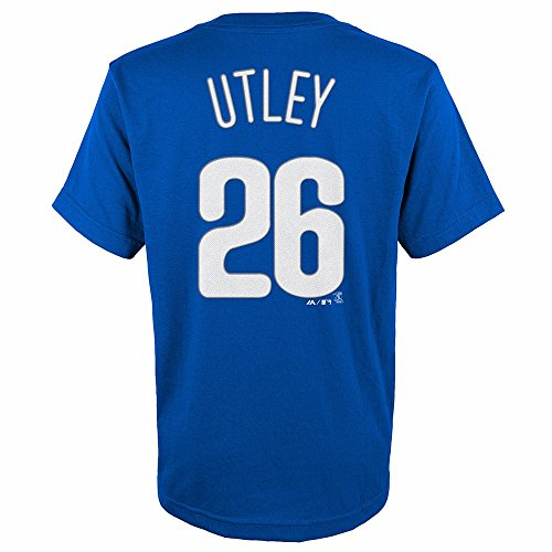 - Majestic Chase Utley Philadelphia Phillies MLB Youth's Blue Player Name & Number Jersey T-Shirt (BOY14-16_L)