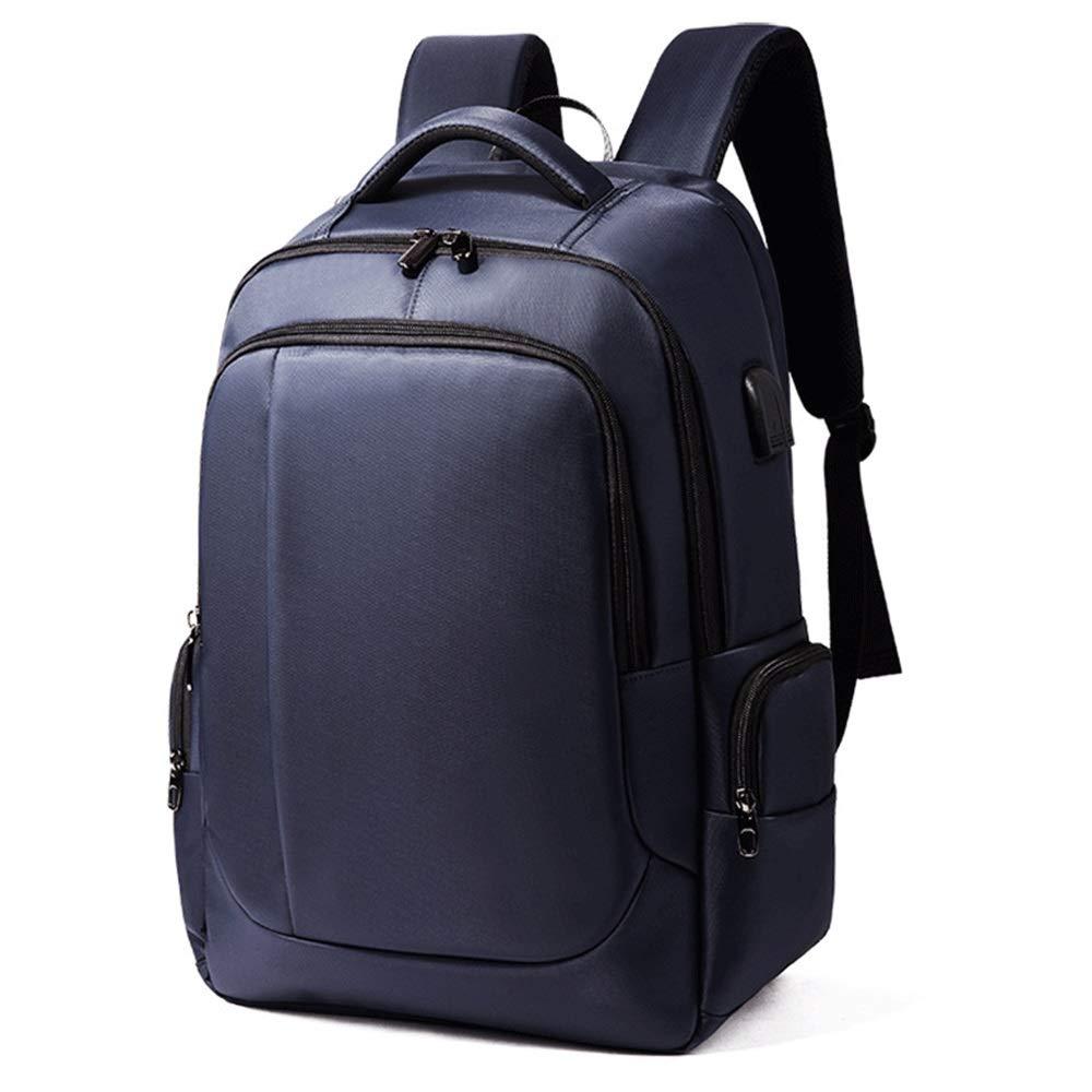 HUIFANG 男性と女性のバックパック屋外防水通気性の多機能USBポート旅行のコンピュータバッグを充電する A  青 B07P58F16G