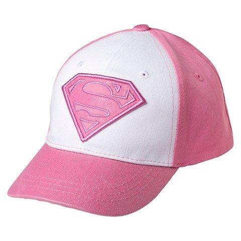 [Toddler Girls' Supergirl Baseball Hat - Pink] (Baseball Girl Costume)