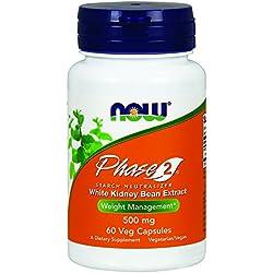 NOW Phase 2 500 mg,60 Veg Capsules