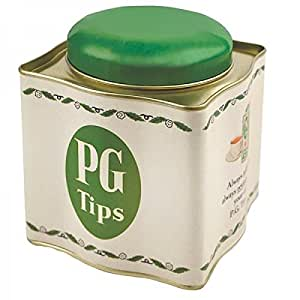 Tea Caddy/Teabag Holder ~ PG TIPS ~ Retro Tinware