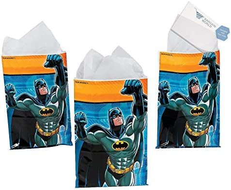 Batman Loot Goody Bags (With Sticky Notes)