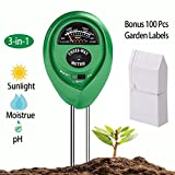 uHome Soil pH Meter, 3-in-1 Soil Test Kit For Moisture, Light & pH, Plant Soil Tester Kit, No Battery needed | Bonus 100 PCS Plastic Plant Labels,4 Inch,White Review