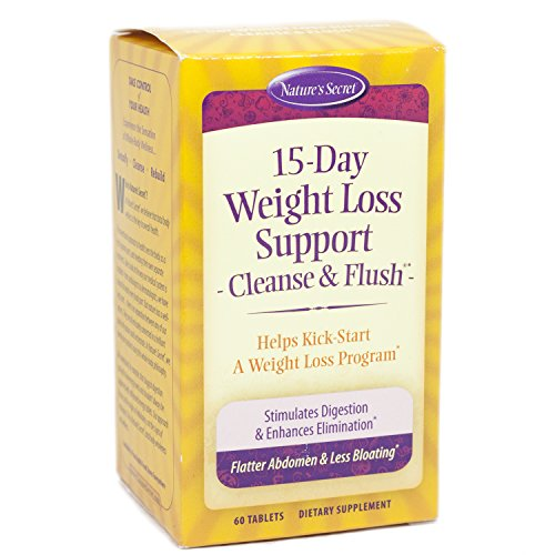 15-Day Cleanse & Flush by Nature's Secret| Reduces Bloating and Stimulates Digestion, Healthy Weight Management, 60 - Fat Flush Cleanse