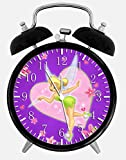 Disney Tinker Bell Alarm Desk Clock 3.75'' Home or Office Decor W235 Nice For Gift
