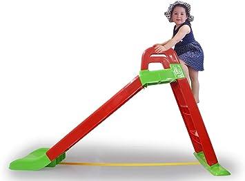 Jamara 460501 Funny Slide - Tobogán (Antideslizante, con Asas de Seguridad), Color Rojo