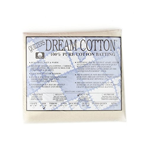 Quilters Dream Natural Cotton Deluxe Batting (46in x 60in) Crib