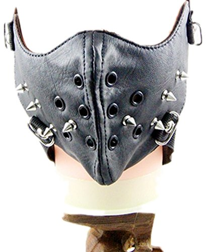 Qiu ping Men's and women's new wave of rivets rock mask personality motorcycle mask by Qiu ping
