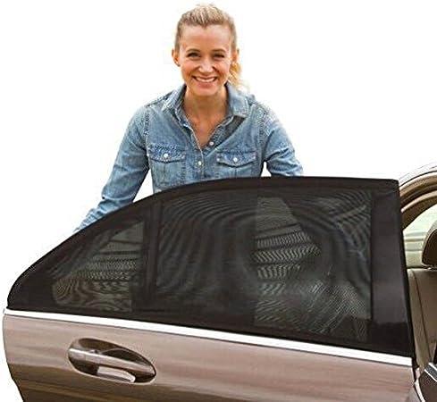 Crewell 2 Pi/èces Fen/être voiture universelle rideaux fenetre voiture Protection UV pour B/éb/é et enfants animaux domestiques Pare-soleils Fen/être