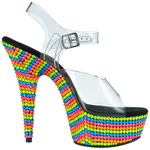 Delight mehrfarbig Sandalias 608rbs Mehrfarbig Mujer clr Multi Pleaser neon dxwX6qnd