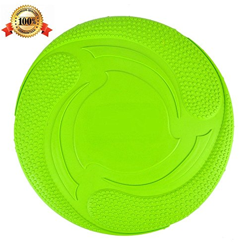 Soft Safety Flying Discs Toys for Dogs Pets Floatable Dog Toy Floppy Disc Durable Interactive Dog Fetch Frisbee Toy for Medium Large Dogs Lose Weight Sports 7 In