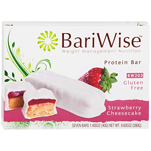 BariWise Protein Bar/Diet Bars - Strawberry Cheesecake (7ct), High Protein, Trans Fat Free, Aspartame - Protein Diet Bariwise Bars