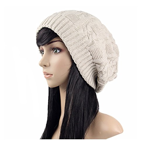 ISEYMI Womens Knitted Slouchy Skullies