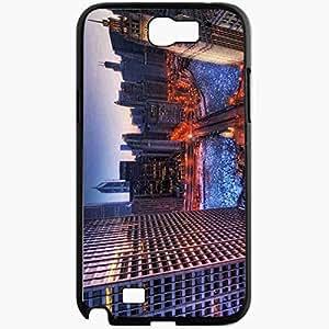 Unique Design Fashion Protective Back Cover For Samsung Galaxy Note 2 Case Illinois Chicago USA Illinois Chicago Black