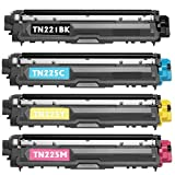 Shop At 247 ® Compatible Toner Cartridge Replacement for Brother TN221/ TN225 (1 Standard Yield Black, 1 Cyan, 1 Yellow, 1 Magenta, 4-Pack)