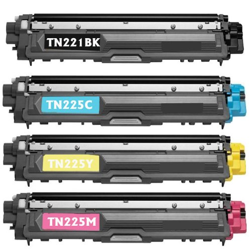 Shop At 247 ® Compatible Toner Cartridge Replacement for Brother TN221/ TN225 (1 Standard Yield Black, 1 Cyan, 1 Yellow, 1 Magenta, 4-Pack), Office Central