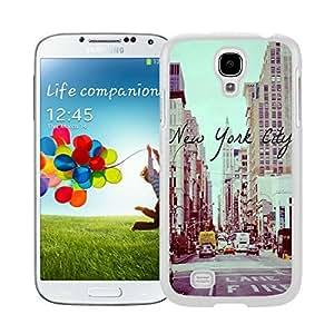 Pop Samsung Galaxy S4 Case New York City Urban Soft Rubber Silicone White Phone Cover Accessories