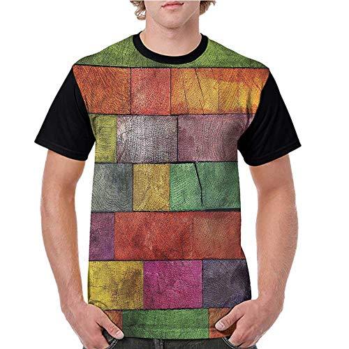 Rainbow Timber - Girls Short Sleeve Tops,Rustic,Rainbow Timber Art S-XXL O Neck T Shirt Female Tee