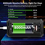Téléphone Incassable OUKITEL WP5, Grande Batterie 8000 mAh, 4GO RAM + 32Go ROM, Smartphone Antichoc Étanche, Écran 5,5… 8