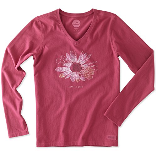 life-is-good-womens-crusher-longsleeve-flower-tiny-hearts-t-shirt-rose-berrysmall