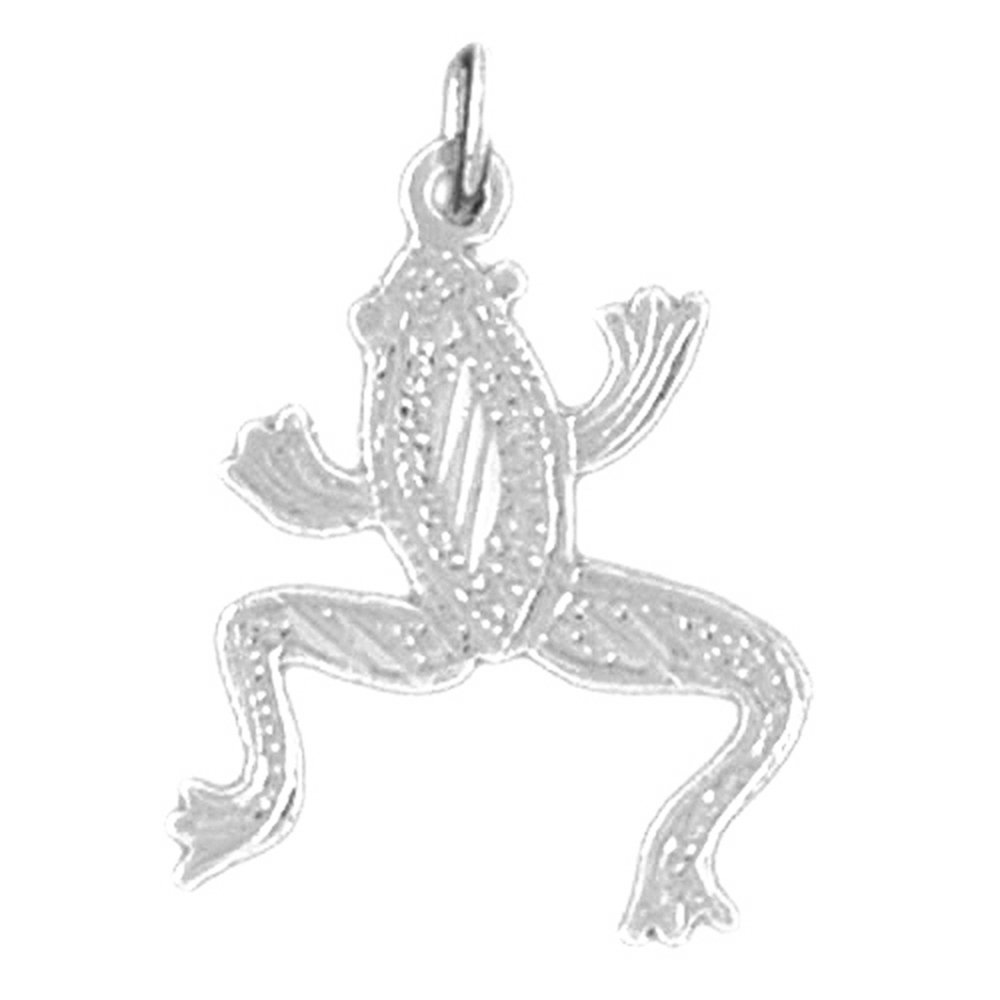 14K Yellow Gold-plated 925 Silver Frog Pendant with 16 Necklace Jewels Obsession Frog Necklace