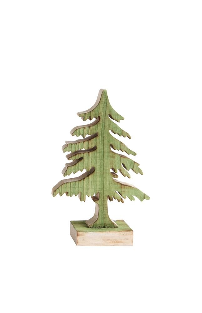 Heart of America Wood Christmas Tree Green - 3 Pieces