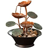 bits and pieces indoor water lily water fountain small size makes this a perfect tabletop decoration compact and lightweight