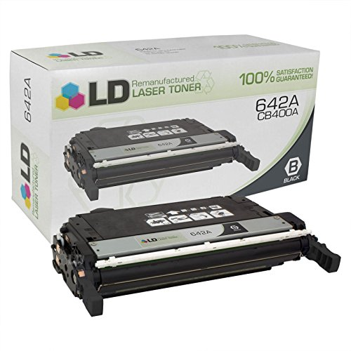 Fax Opc Drum (LD Remanufactured Replacement Laser Toner Cartridge for Hewlett Packard CB400A (HP 642A) Black)