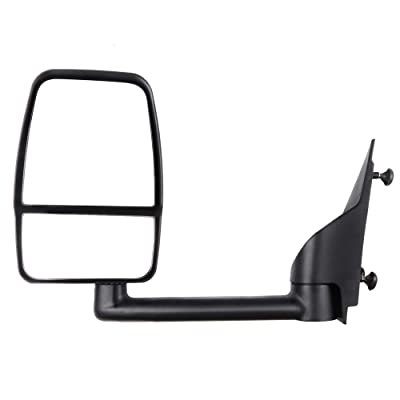 ECCPP Textured Tow Manual Folding Manual Adjustment Non-Heated Left Side Mirror Driver Side Mirror Fit for 2003-2011 Chevy Express Savana: Automotive