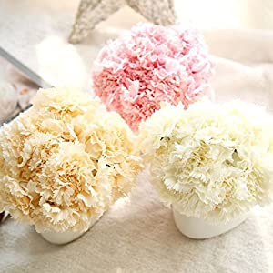 Fashionwu Simulate Carnation Bouquet Artificial Flower Decoration 3