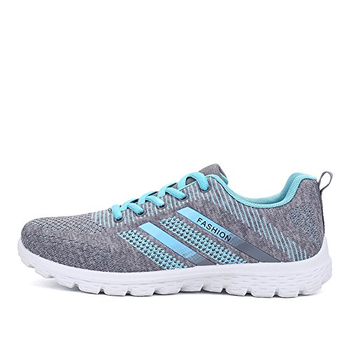Cooga Womens Knit Mesh Comfy Walking Shoes Lighweight Running Sneakers Gray 58fMHY