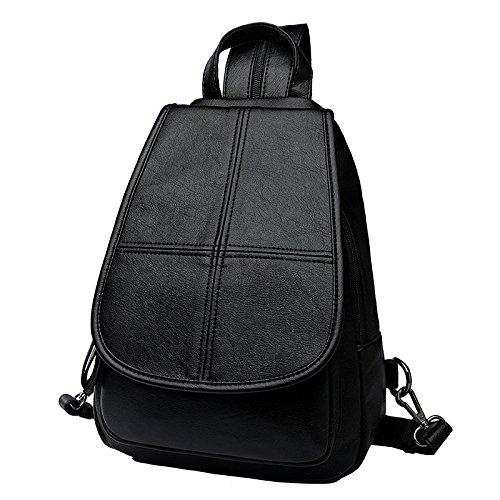 DHFUD Mochila Multifuncional Bolsa Elegante Simple Black4
