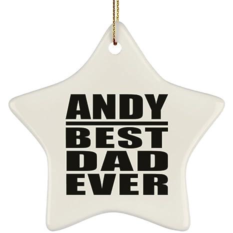 Andy Best Dad Ever - Star Ornament Adorno, Decoración Árbol ...