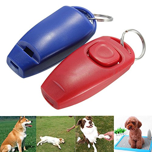 Click Clicker - Dog Cat Pet Click Training Obedience Agility Trainer Aid Bird Ultrasonic Whistle Commander Supply Accessory - Bounder Firedog Cad Hound Legerity Familiari - 1PCs
