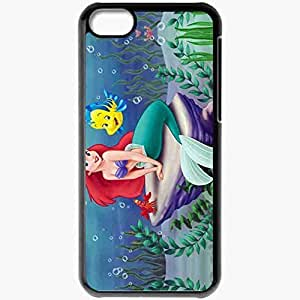 XiFu*MeiPersonalized ipod touch 4 Cell phone Case/Cover Skin Little Mermaid Ariel Disney Cartoon Mermaid Sea BlackXiFu*Mei