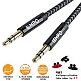 AUX Cable 3.3ft/1.0M EMPO 3.5mm Nylon Braided Audio Cable, Copper Shell Aux Cord Lead, for Car, Echo, iPhone, iPod, iPad, Beats, Bose, Sony, Headphones