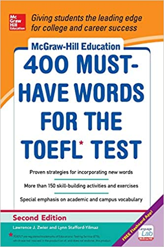 McGraw-Hill Education 400 Must-Have Words for the TOEFL, 2nd