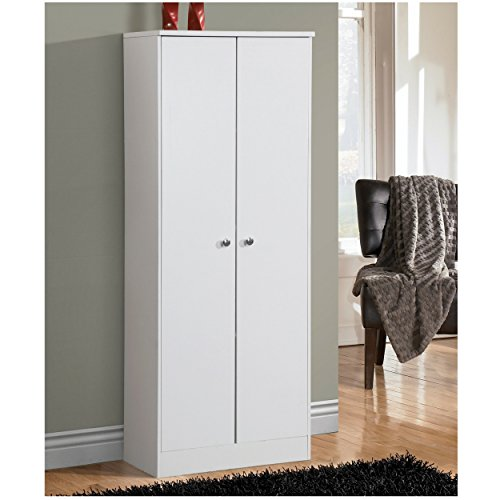 Adjustable Shelves White 2-Door Storage Kitchen Pantry by Home Source