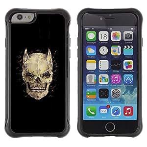 Be-Star único patrón Impacto Shock - Absorción y Anti-Arañazos Funda Carcasa Case Bumper Para Apple iPhone 6 Plus(5.5 inches)( Horns Bones Skull Devil Horror Death )