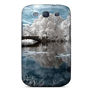 First-class Case Cover For Galaxy S3 Dual Protection Cover Winter On The River